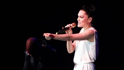 Jessie J performing at The Sony Awards in 2012