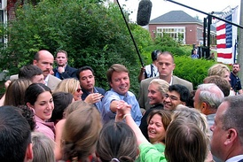 Edwards on the campaign trail in 2004.