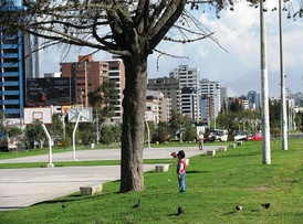 La Carolina Park next to Amazonas Avenue