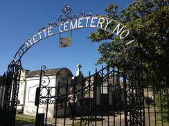 The front gates to Lafayette Cemetery No. 1