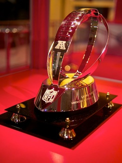 The redesigned Lamar Hunt Trophy, awarded since 2010–11 season.