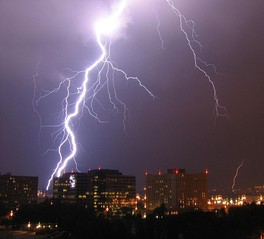 Lightning is an electric current