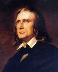 head and neck portrait of a middle-aged man with long blond hair, wearing a circa-1850 dark suit and a shirt with a high collar