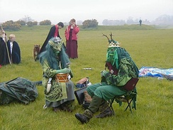 The May King and Queen, Thornborough Central Henge, Beltaine 2005