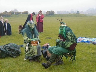 The May King and Queen, Thornborough Central Henge, Beltane (May 1st) 2005