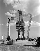MR-3 prelaunch activities April 21, 1961 at LC-5, Cape Canaveral, Florida