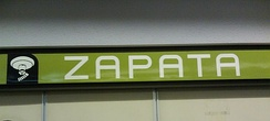 Metro Zapata in Mexico City, the icon shows a stylized, eyeless Zapata