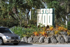 Entrance sign with the old Zoo name
