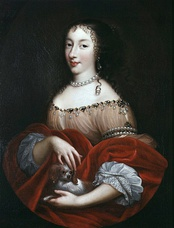 Princess Henrietta of England (1644–1670), sister of Charles II, who arranged the Secret Treaty of Dover in May 1670; Ashley was not told about the Catholic clauses contained in the Secret Treaty of Dover, and, to fool Ashley, Buckingham, and Lauderdale, a second, public Treaty of Dover was signed in December 1670.