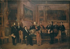 Council of Ministers on 15 August 1842. Soult presents the regency law to Louis-Philippe