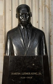 Martin Luther King, Jr., is one of two African-American honored with a bust in the United States Capitol.
