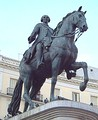 Statue of Charles III in Madrid.