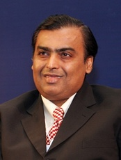 Mukesh Ambani, a business magnate and the richest man in Asia[171]