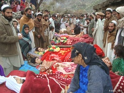 Victims of the Narang night raid that killed at least 10 Afghan civilians, December 2009