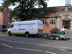 A National Grid Mercedes-Benz Vario van working in Central England in July 2007