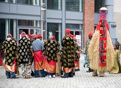 Igbo people celebrating the New Yam festival in Dublin, Ireland