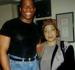 Dee (right) with activist and opera star Stacey Robinson in 1998.