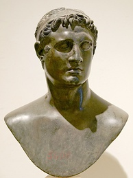 A bust depicting Pharaoh Ptolemy II Philadelphus 309–246 BC