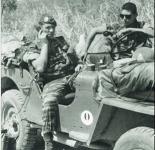 A radio on a jeep during operation Bonite.