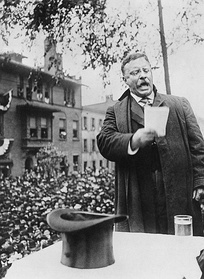 Roosevelt campaigning for president, 1912