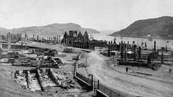 St. John's shortly after the Great Fire of 1892. The fire destroyed a significant portion of the city.