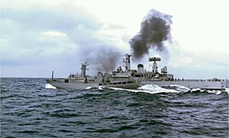 Confrontation between the frigate HMS Scylla and the Icelandic gunboat Odinn (1976)