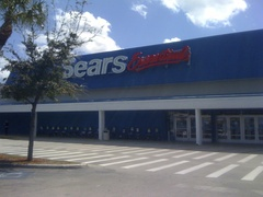 Exterior of the Sears Essentials in West Palm Beach, Florida (reopened as Sears Outlet)