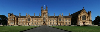 A panoramic photograph of the Quadrangle