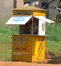 Mobile phone shop in Uganda