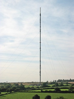 The Waltham on the Wolds transmitter covers large parts of the region