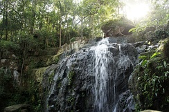 Waterfall on Koh Rong, Cambodia