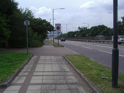 The A41 Watford Way in Hendon
