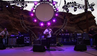 Widespread Panic playing at the Red Rocks Amphitheatre in 2010