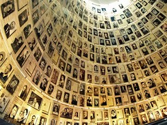 The Hall of Names in Yad Vashem containing Pages of Testimony commemorating the millions of Jews who were murdered during the Holocaust