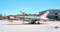 112th Tactical Fighter Squadron - North American F-100F-15-NA Super Sabre 56-3990 about 1975