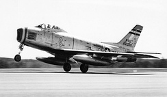131st Tactical Fighter Squadron - North American F-86H Sabre 52-2030