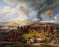The Battle of Borodino as depicted by Louis Lejeune. The battle was the largest and bloodiest single-day action of the Napoleonic Wars.