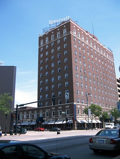 The 12-story Roosevelt Hotel was built in 1927 and is on the National Register of Historic Places. It is one of several prospects attracting outside investors to the city.[67]