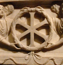 """IX"" (Jesus Christ) monogram from a 4th-century sarcophagus from Constantinople"