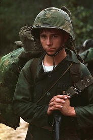 A young U.S. Marine in the Vietnam War, 1965