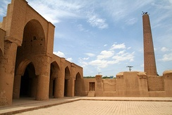 Tarikhaneh Temple, a pre-Islamic monument built in Sassanid Persia which was later turned into a mosque, showing elements of Iranian architecture before the spread of Islam