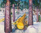 The Yellow Log, 1912, 129.5 cm × 159.5 cm (51 in × 62 3⁄4 in), Munch Museum, Oslo
