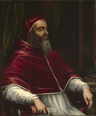 "Giulio di Giuliano de' Medici, Pope Clement VII, by Sebastiano del Piombo, c.1531. Clement called Catherine's betrothal to Henry of Orléans ""the greatest match in the world""."