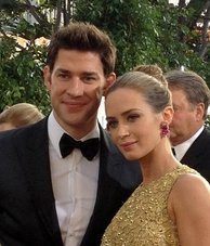 Krasinski with wife Emily Blunt at the 2013 Golden Globe Awards