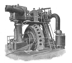 Ferranti steam generating set, c. 1900
