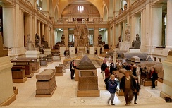 Interior of the Egyptian Museum.