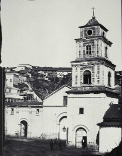 Picture of the Church of San Francisco in 1864