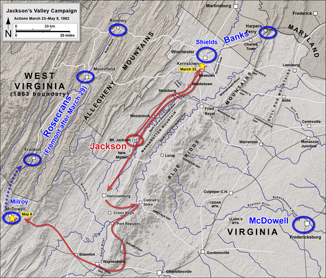 Kernstown (March 23) to McDowell (May 8)