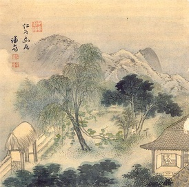 An 18th-century Korean version of the Chinese literati style by Jeong Seon who was unusual in often painting landscapes from life.