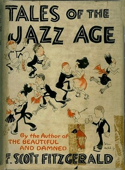 Cover of a 1922 edition of F. Scott Fitzgerald's book Tales of the Jazz Age